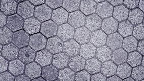 Telha do pavimento na forma de um favo de mel video estoque