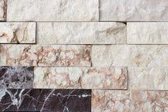 Telha do travertino, cor do material de construção do tijolo Foto de Stock Royalty Free