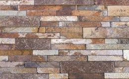 Telha do travertino, cor do material de construção do tijolo Fotos de Stock Royalty Free