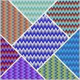 Telha dos retalhos de Chevron, elemento colorido do projeto, fundo decorativo Fotografia de Stock