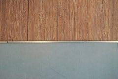 Telha e parede de madeira da cor Foto de Stock Royalty Free