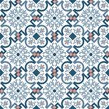 Telha marroquina velha tradicional clássica luxuosa do teste padrão imagens de stock royalty free