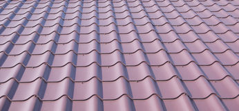 Telha ondulada do metal Fotografia de Stock