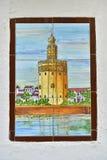 Telha pintura torro del minério Imagem de Stock Royalty Free