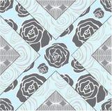 Telha sem emenda abstrata dos retalhos com ornamento floral árabe ou ilustração royalty free