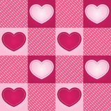 Telha sem emenda do coração Checkered Ilustração do Vetor