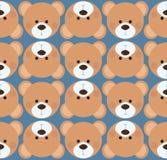 Telha sem emenda do fundo do teste padrão - urso de peluche bonito Imagens de Stock Royalty Free