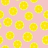 Telha sem emenda do teste padrão do vetor da limonada cor-de-rosa Fotos de Stock Royalty Free