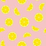 Telha sem emenda do teste padrão do vetor da limonada cor-de-rosa ilustração stock