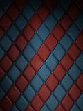 Telha vermelha & azul fotografia de stock royalty free