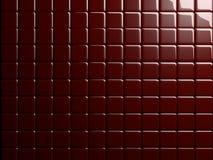 A telha vermelha 3D rendeu o fundo/papel de parede/textura ilustração stock