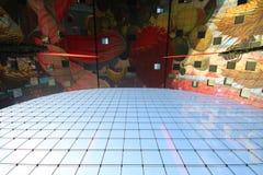 Telhado abstrato do fundo de rotterdam foto de stock