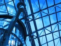 Telhado azul imagem de stock