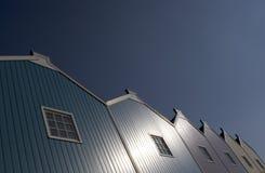 Telhado azul fotografia de stock