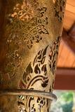 Telhado baixo dourado tailandês Foto de Stock
