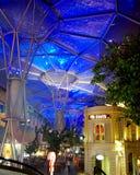 Telhado bonito da arquitetura da iluminação foto de stock