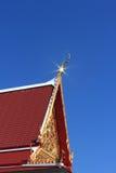 Telhado budista da igreja imagens de stock