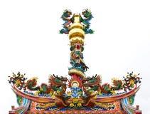 Telhado chinês asiático típico do templo Fotografia de Stock Royalty Free