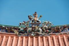 Telhado chinês do templo fotos de stock
