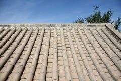 Telhado chinês na vila antiga Dunhuang, China Imagens de Stock Royalty Free