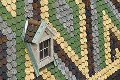Telhado colorido a catedral dos stephens do st Imagem de Stock Royalty Free