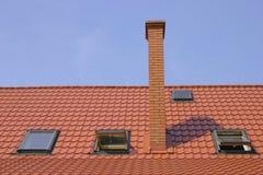 Telhado com chaminé Imagem de Stock Royalty Free