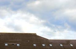 Telhado com clarabóias Fotografia de Stock