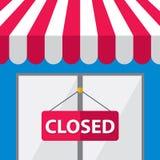 Telhado com fechado, ilustração da loja Fotos de Stock