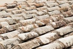 Telhado com telha vermelha Imagem de Stock