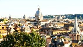 Telhado da abóbada do corso do al de Roma San Carlo do panorama video estoque