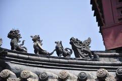 Telhado da arquitetura do chinês do tradional Fotos de Stock