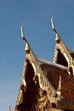 Telhado da arquitetura tailandesa, em Tailândia Imagem de Stock Royalty Free