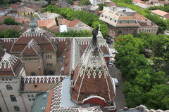 Telhado da câmara municipal em Subotica Imagem de Stock Royalty Free