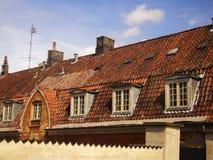 Telhado da casa de Europa Foto de Stock Royalty Free