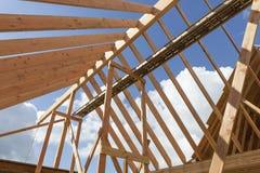 Telhado da casa sob a construção Fotografia de Stock Royalty Free