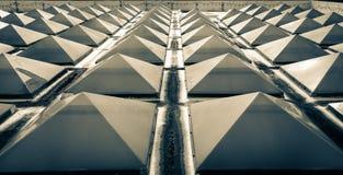 Telhado da claraboia dos triângulos imagem de stock royalty free