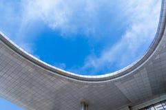 Telhado da construção de plaza da cidade de Jiangyin foto de stock royalty free