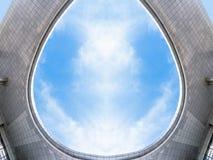 Telhado da construção de plaza da cidade de Jiangyin fotografia de stock royalty free