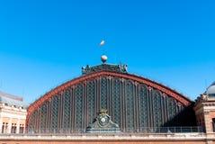 Telhado da estação de comboio do atocha, Madrid Fotografia de Stock