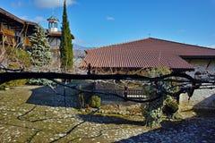Telhado da igreja na natividade do monastério de Rozhen da mãe do deus, Bulgária fotos de stock royalty free