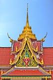 Telhado da igreja, wat Saikao Tailândia Imagem de Stock Royalty Free