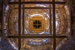 Telhado da madeira e da palha Fotografia de Stock Royalty Free