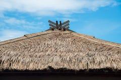 Telhado da palha no estilo japonês fotos de stock royalty free