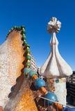 Telhado das casas Batllo em Barcelona Foto de Stock