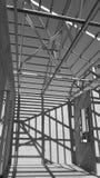Telhado de aço preto e branco Fotografia de Stock