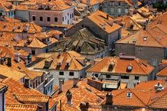 Telhado de Dubrovnik fotografia de stock