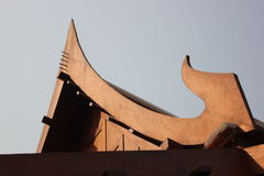 Telhado de frontão tailandês Fotos de Stock