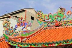 Telhado de Hai Lam Ban Don Shrine, Surat Thani, Tailândia Fotografia de Stock Royalty Free