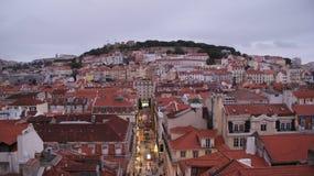 Telhado de Lisboa, vista da parte superior Imagem de Stock