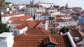 Telhado de Lisboa, vista da parte superior Fotografia de Stock